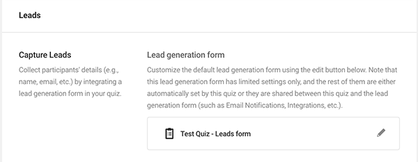 The lead generation form.