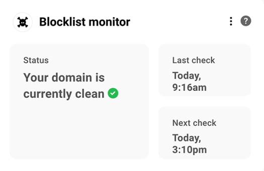 The blocklist monitor area.