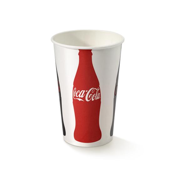 Coca Cola beker van karton met een inhoud van 400cc