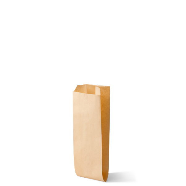 Snackzak vervaardig van een kraft materiaal met een inhoud van 1,5 ons