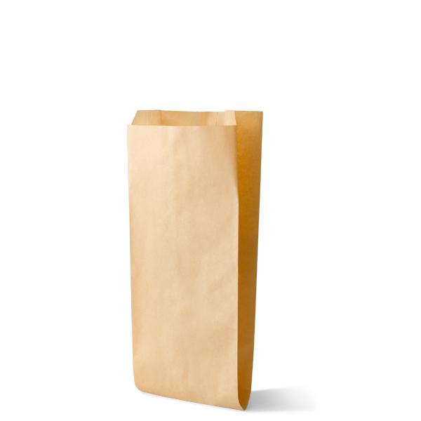 Snackzak vervaardig van een kraft materiaal met een inhoud van 0,5 pond