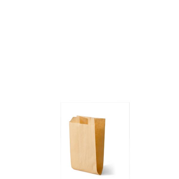 Snackzak vervaardig van een kraft materiaal met een inhoud van 0,5 ons