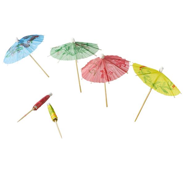 Parasol op een houten prikkertje