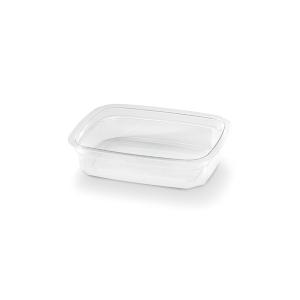 Transparante bakje rechthoekig van plastic, met een inhoud van 125cc
