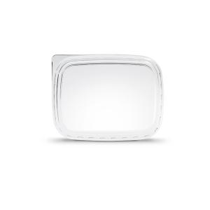 Deksel verpakkingsbakje rechthoekig transparant passend op alle 3 formaten bakjes.