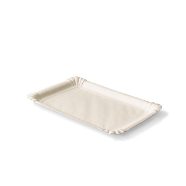 Kartonnen vleeswaren schaaltje met een afmeting van 13x20 centimeter