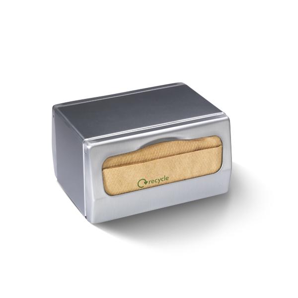 Dispenser voor nova vouw servetten, geschikt voor het plaatsen op een tafel
