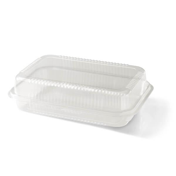 Transparante plastic salade verpakking