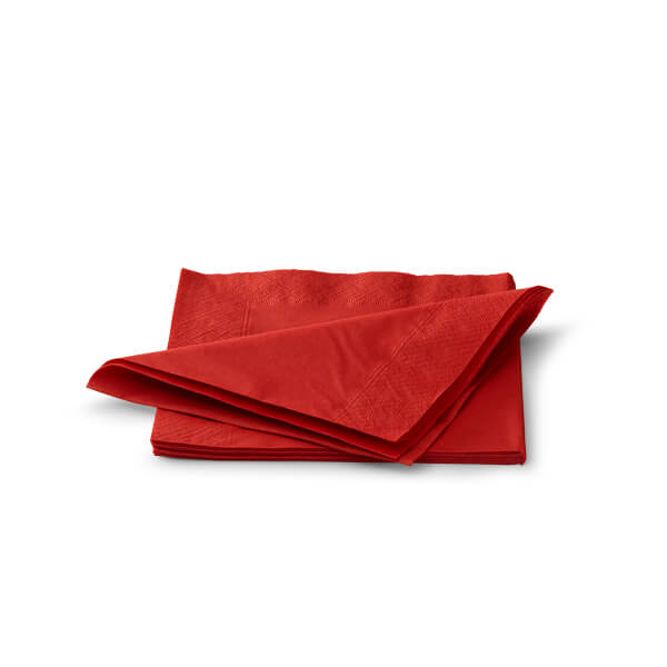 Servet 33x33cm 2 laags rood