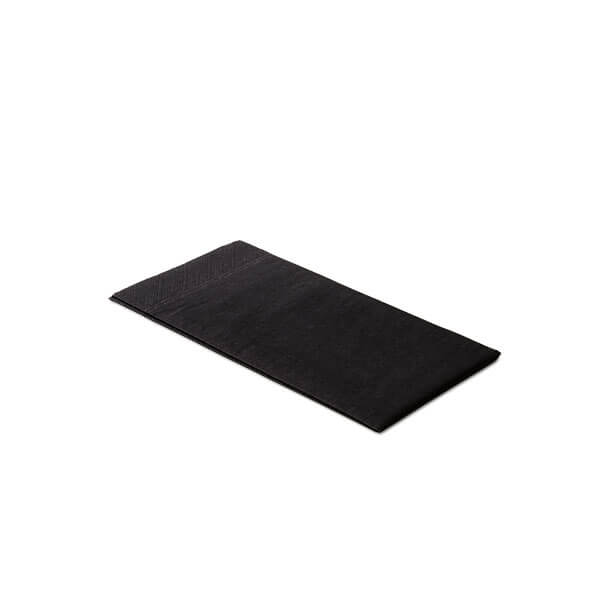 Servet 8-vouw zwart