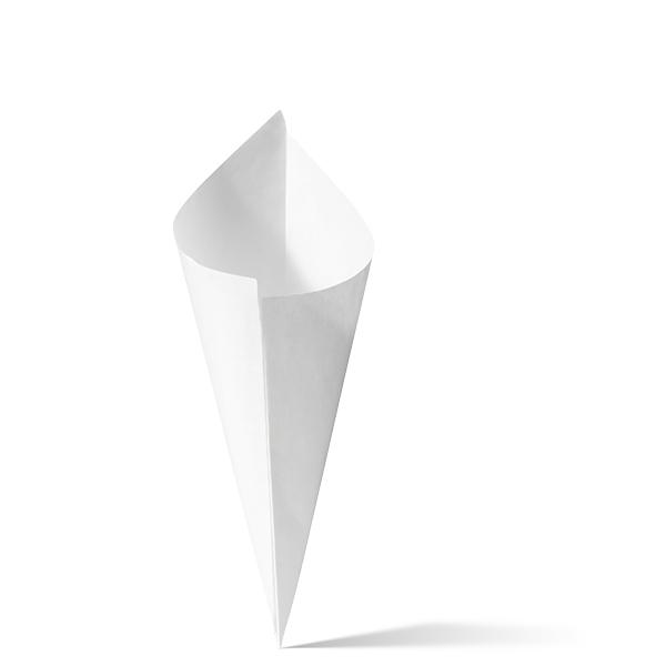 Witte papieren puntzak k18