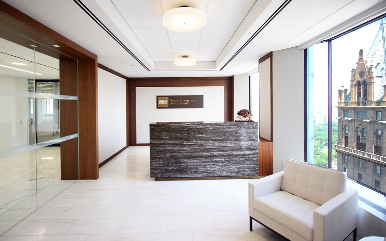 Wells Fargo Reception Desk Area