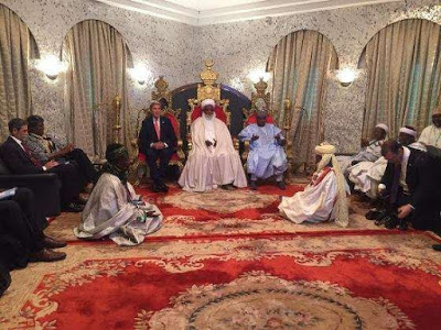 Kerry with Sultan of Sokoto