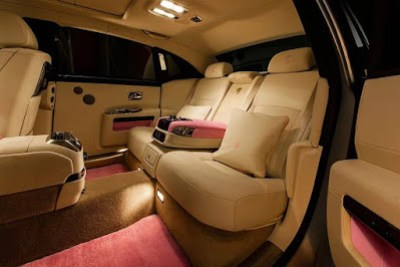 The interior of a Rolls Royce