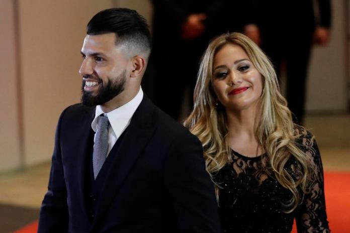 Aguero and girlfriend