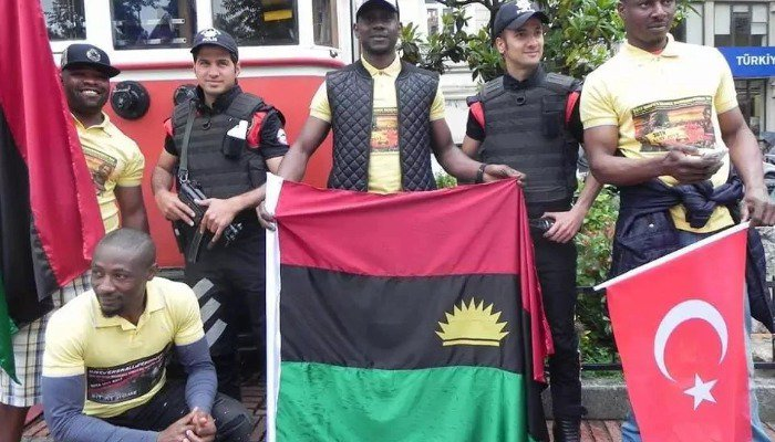 Biafra: IPOB members protest in Turkey as Buhari ends visit
