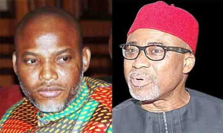 Abaribe replies Nigerian government over Nnamdi Kanu's whereabouts
