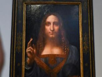 """Leonardo da Vinci's """"Salvator Mundi"""" becomes the most expensive painting to ever sell at auction for $450.3 million"""