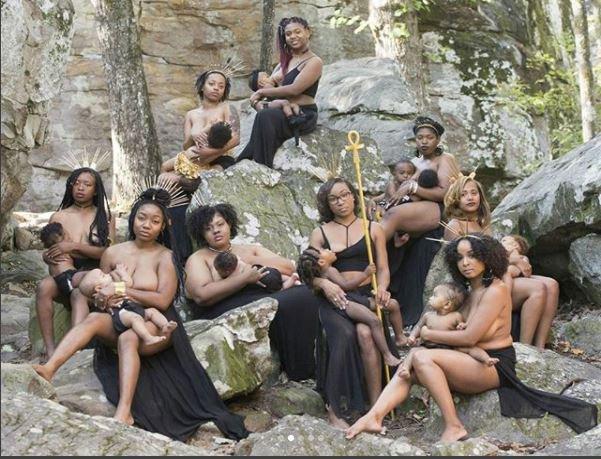 Photoshoot of women breastfeeding