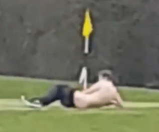 Man filmed having sex with flag pole on gulf course (video)