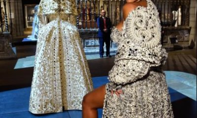 Video of Rihanna strutting among the statues of the Greek and Roman galleries in her show stopping Met Gala outfit