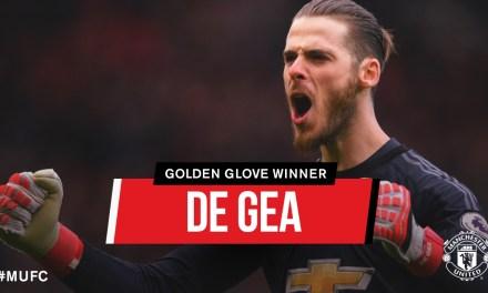 De Gea secures first Premier League Golden Glove award