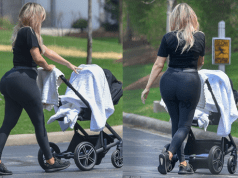 Khloe Kardashian flaunts her post-baby curves while out with daughter True (photos)