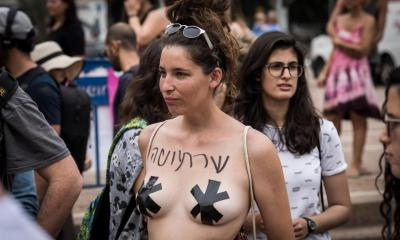Thousands of naked protesters march through Tel Aviv against rape and sex abuse of women