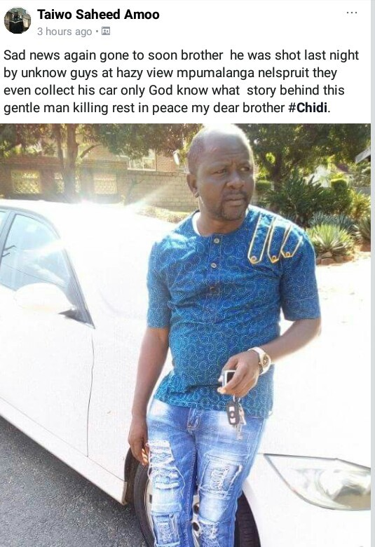 Nigerian man killed in South Africa