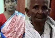 Indian woman filmed beating her aged mother-in-law for plucking flowers without her permission(video)