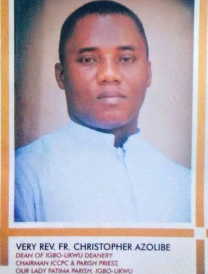 Three Catholic priests reportedly die after burning shrines in Anambra state.