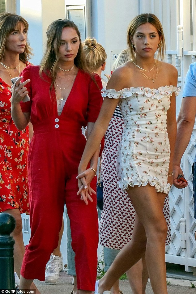 Actor Sylvester Stallone steps out in style with his beautiful daughters and wife during Saint Tropez vacation (Photos).
