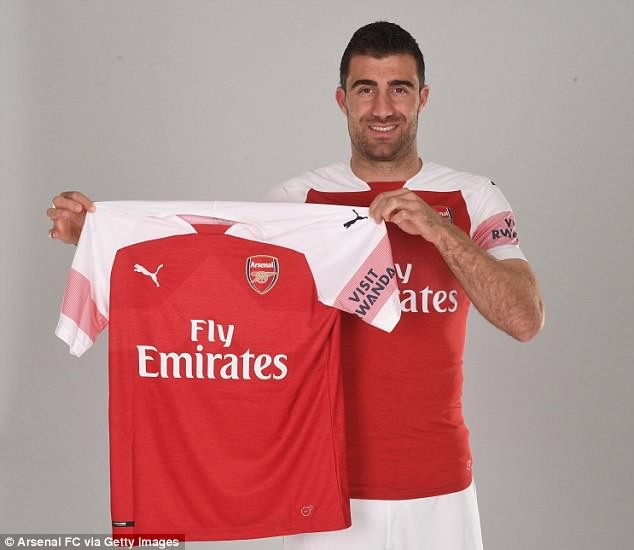 Arsenal complete £17m signing of Sokratis Papastathopoulos ,30, as they hope to win the Premier League title next season