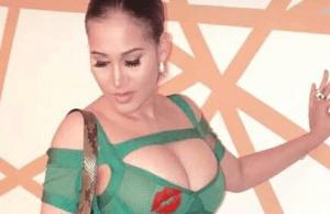 Caroline Danjuma steps out in sexy revealing dress