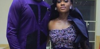 photos of Cee-c and Leo rocking matching outfits