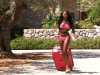 Love Island fans baffled as Samira leaves villa wearing just her bikini pulling a suitcase
