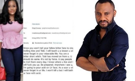"""""""Channel your pain to our corrupt leaders who have made you all jobless"""" Yul Edochie reacts to acid bath threat reality star, Cee c received from a non-fan"""
