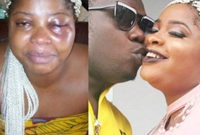 Duncan Mighty reacts to reports of him assaulting his wife & shares photos of him kissing her