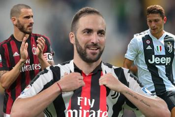 Milan confirm Higuain and Caldara signings as Bonucci heads for Juventus