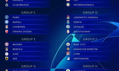 2018/19 UEFA Champions League Group Stage draw