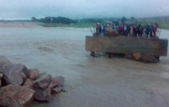The bridge linking Gombe, Adamawa and Borno States has been completely cut off (Photos)