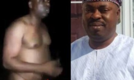 Osun state House of Assembly Majority Leader, Timothy Owoeye allegedly caught bathing in the market (Watch video)