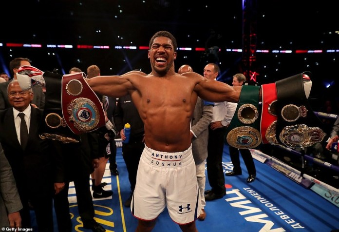 Anthony Joshua knocks out Alexander Povetkin in the seventh round