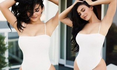 Kylie Jenner shows off her curvaceous body in seductive swimwear photos