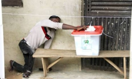 Osun Governorship Election: Viral photo of a physically challenged man casting his vote in Osun State