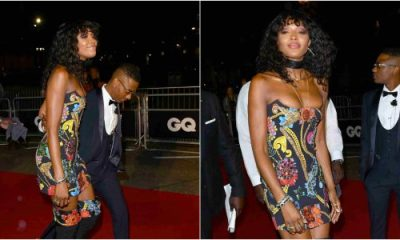 Wizkid and Naomi Campbell spotted at GQ Men Of The Year Awards