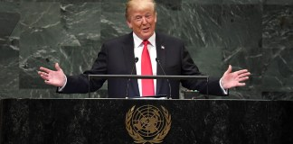 moment Trump is laughed at by other world leaders as he brags about his achievements at UN general assembly