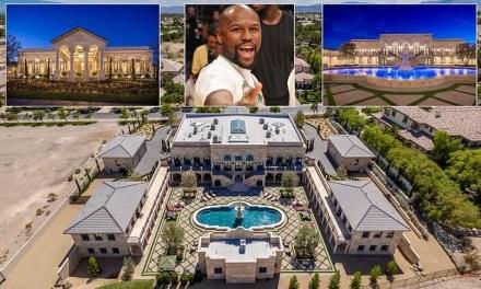 Photos of Floyd Mayweather's new $10million mansion in Las Vegas desert