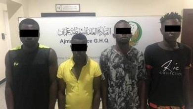 Four African nationals arrested in UAE for robbing jewellery shop at knife-point