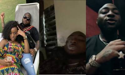 Davido caught smoking and drinking amid breakup rumors with his girlfriend, Chioma (Photos)